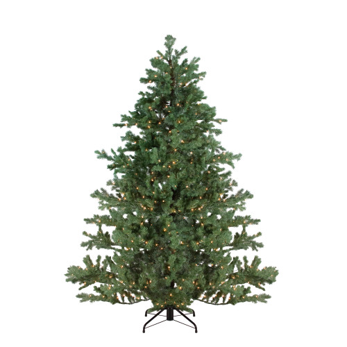 7.5' Pre-Lit Full Green Mountain Pine Artificial Christmas Tree - Clear Lights - IMAGE 1
