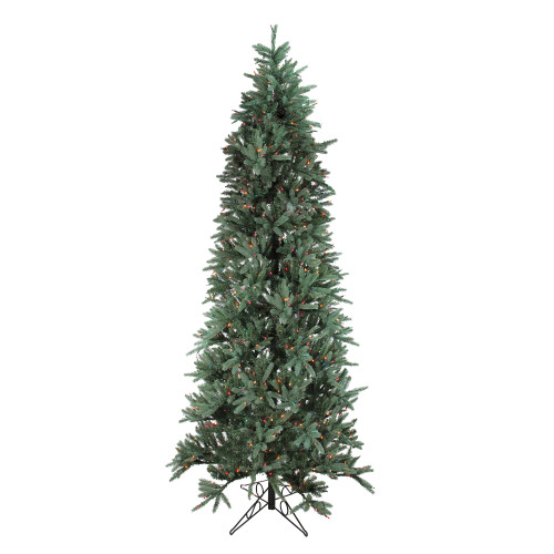9' Pre-Lit Slim Fresh Cut Carolina Frasier Artificial Christmas Tree - Multi-Color Lights - IMAGE 1