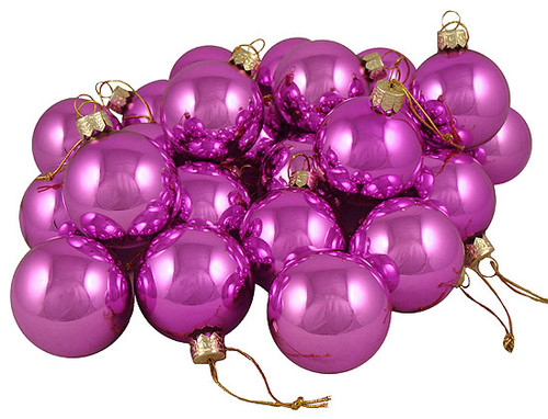 """Club Pack of 36 Shiny Pink Lolipop Glass Ball Christmas Ornaments 2.75"""" (67mm) - IMAGE 1"""