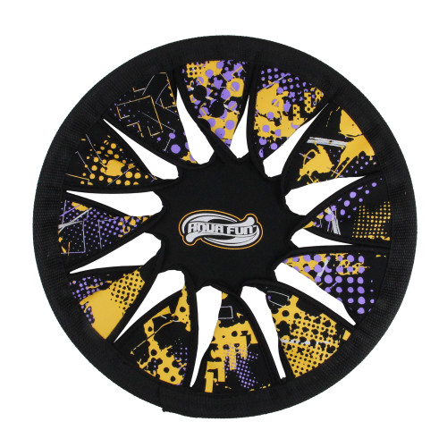 """12"""" Yellow and Purple Volando Super Disc Active Summer Pool Toy - IMAGE 1"""