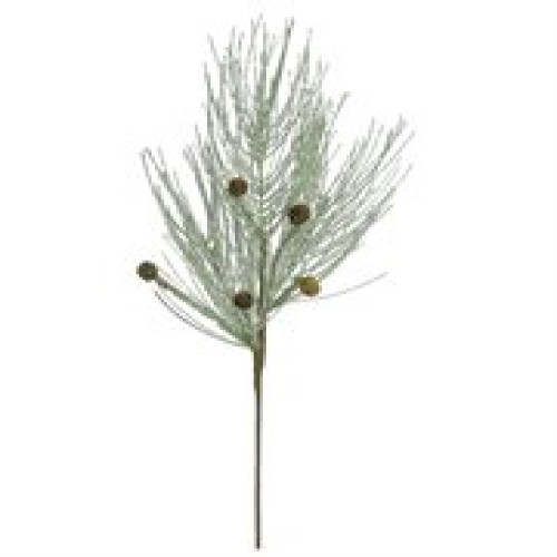 """28"""" Icy Green Frost and Mica Pine Cone Artificial Christmas Spray - IMAGE 1"""