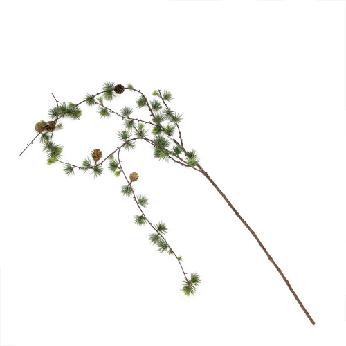 """51"""" Green and Brown Pine Sprigs and Pine Cone Christmas Hanging Spray - IMAGE 1"""