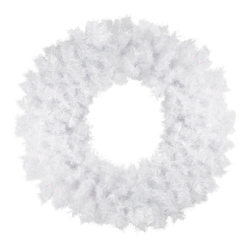 Icy White Spruce Artificial Christmas Wreath - 36-Inch, Unlit - IMAGE 1