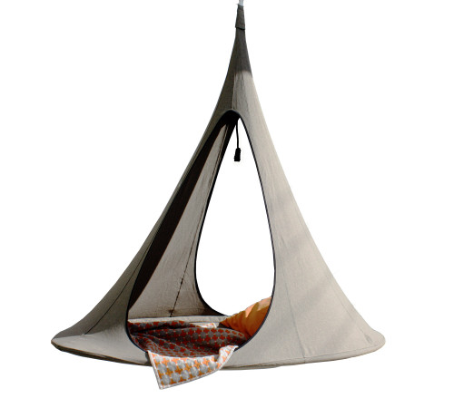 """77"""" Gray One Person Songo Hanging Chair with Hanging Hardware - IMAGE 1"""