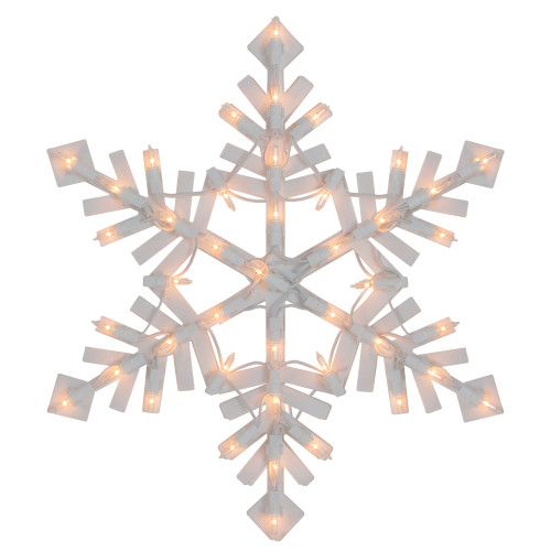 Lighted Snowflake Christmas Window Silhouette - 15.5 Inch - IMAGE 1