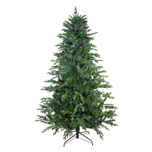7.5' Pre-Lit Medium Ashland Sitka Spruce Artificial Christmas Tree - Multicolor LED Lights - IMAGE 1