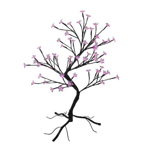 "25"" Pre-Lit Japanese Sakura Blossom Flower Artificial Tree - Pink and Purple LED Lights - IMAGE 1"