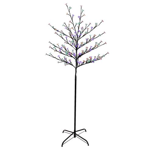 6' Pre-Lit Cherry Blossom Flower Artificial Tree - Multicolor LED Lights - IMAGE 1