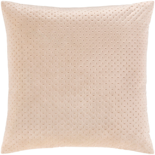 """20"""" Brown Contemporary Square Throw Pillow with Knife Edge - Poly Filled - IMAGE 1"""