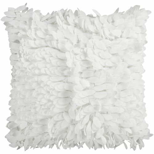 """18"""" White Textured Finish Square Throw Pillow Cover - IMAGE 1"""