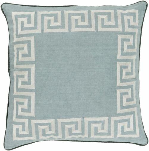 """22"""" Gray and Ivory Geometric Square Throw Pillow Cover - IMAGE 1"""