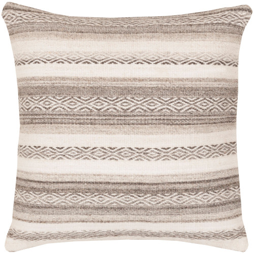 """18"""" Gray and Brown Contemporary Square Throw Pillow Cover - IMAGE 1"""