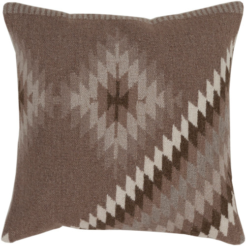 """22"""" Fossil and Peyote Colored Knife Edge Print Pillow Cover - IMAGE 1"""