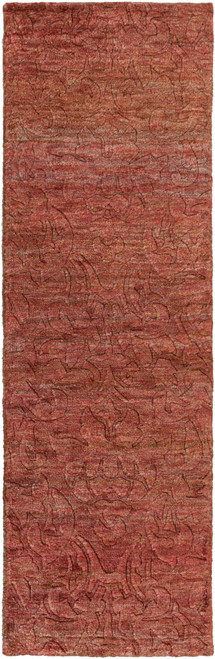 2.5' x 8' Brown and Beige Abstract Area Throw Rug Runner - IMAGE 1