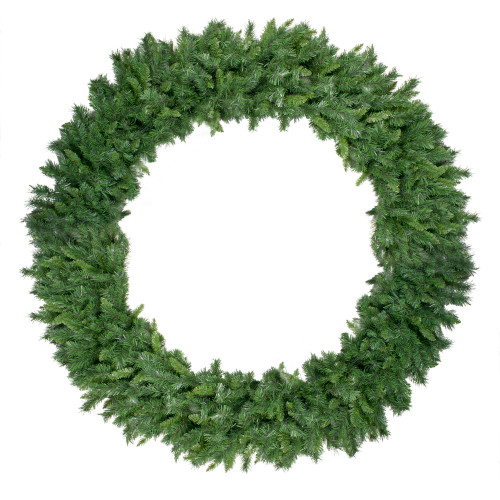 Green Lush Mixed Pine Artificial Christmas Wreath - 72-Inch, Unlit - IMAGE 1
