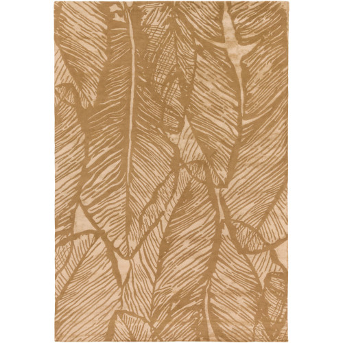 9' x 13' Contemporary Style Beige and Brown Rectangular Area Throw Rug - IMAGE 1