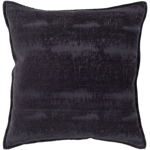 "18"" Navy Blue Distress Finish Square Throw Pillow with Flange Edge - Down Filler - IMAGE 1"