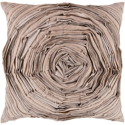 "22"" Brown Contemporary Square Throw Pillow Cover - IMAGE 1"