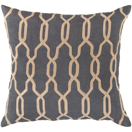 """18"""" Brown and Beige Moroccan Square Throw Pillow Cover - IMAGE 1"""