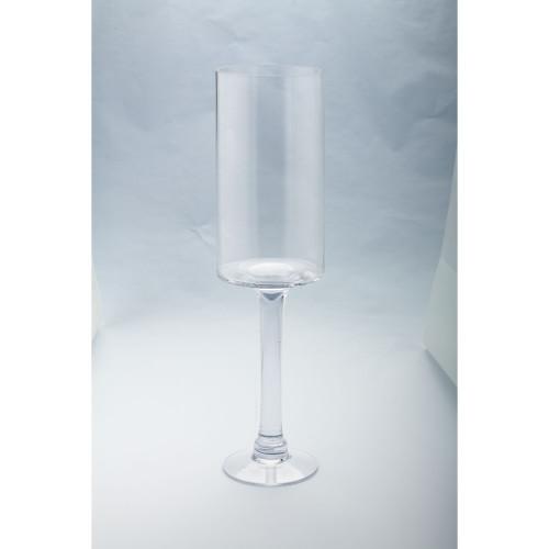 "20"" Cylindrical Handblown Glass Pillar Candle Holder - IMAGE 1"