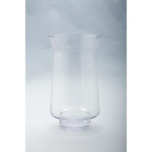 "12"" Hurricane Handblown Glass Pillar Candle Holder - IMAGE 1"