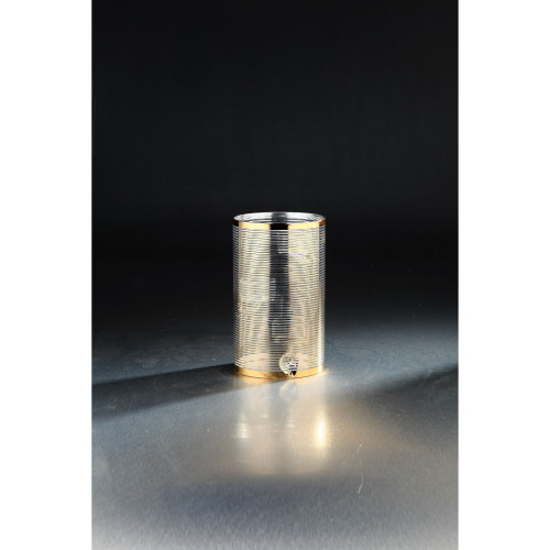 """18"""" Gold Cylindrical Table Top Glass Candle Holder - IMAGE 1"""