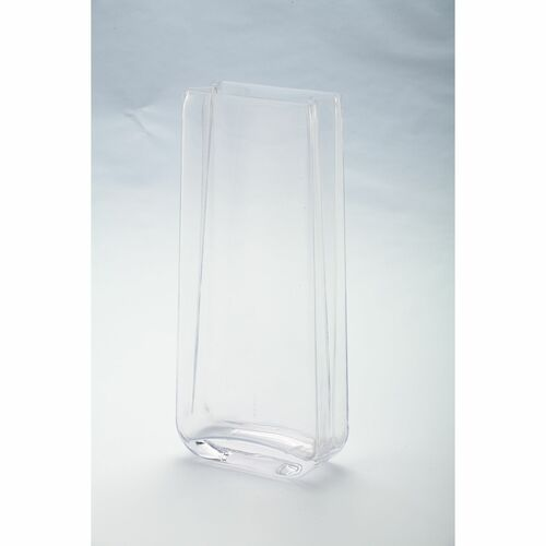 "12"" Clear Rectangular Tabletop Glass Vase - IMAGE 1"