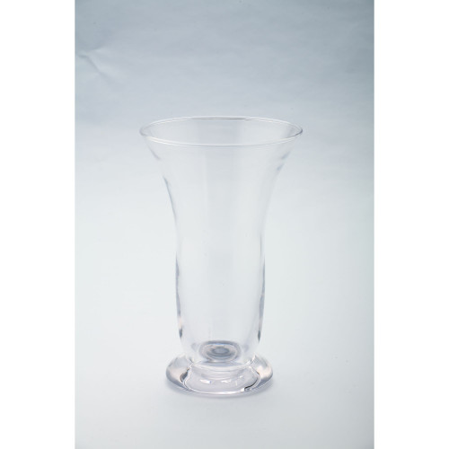 """8.5"""" Cylindrical Handblown Glass Candle Holder with Pedestal - IMAGE 1"""