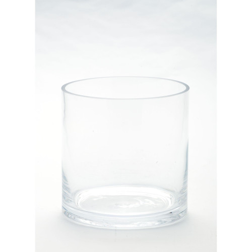 "5"" Clear Cylindrical Hand Blown Glass Vase - IMAGE 1"