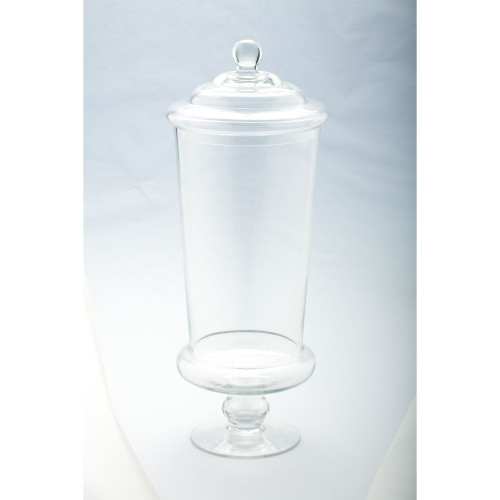 """19"""" Clear Solid Glass Apothecary Jar with Lid - IMAGE 1"""