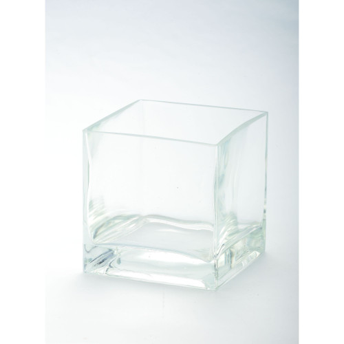 "5"" Transparent Clear Glass Pillar Candle Holder - IMAGE 1"