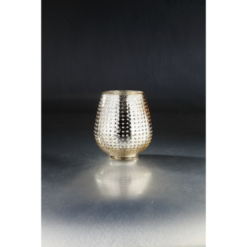 """8"""" Gold Colored Textured Metallic Bumpy Glass Vase - IMAGE 1"""