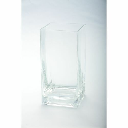 "8"" Transparent Clear Glass Pillar Candle Holder - IMAGE 1"