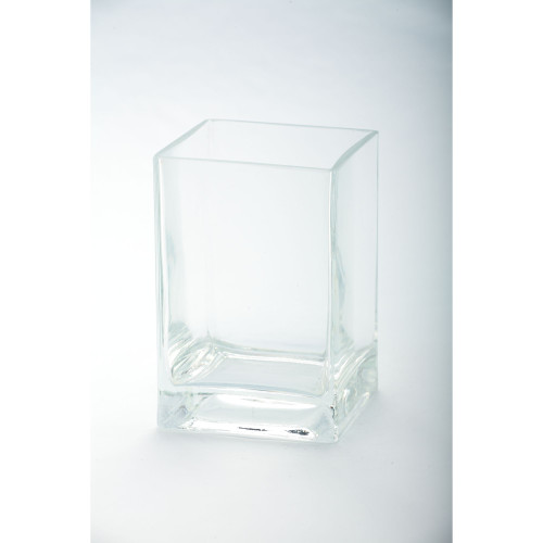 "6"" Transparent Clear Glass Pillar Candle Holder - IMAGE 1"