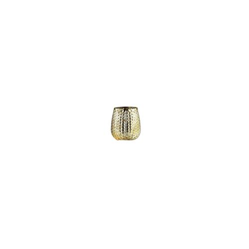 "4"" Metallic Gold Hobnail Glass Tea Light Candle Holder - IMAGE 1"
