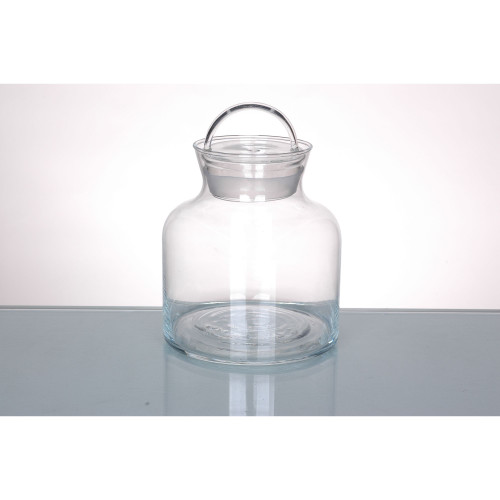 """5.5"""" Clear Candy Dish Jar with Finial Lid Tabletop Decor - IMAGE 1"""