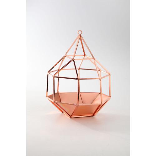"11.5"" Bronze Finish Geometric Design Glass Accessory - IMAGE 1"