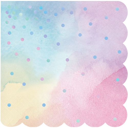 """Club Pack of 192 Pink and Blue 3-Ply Beverage Napkins 5"""" - IMAGE 1"""