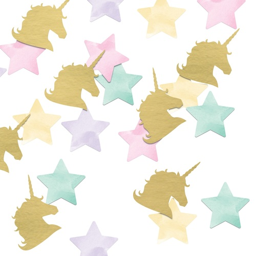 """Club Pack of 12 Gold and Green Horse Shaped Confettis 1"""" - IMAGE 1"""