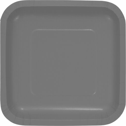 """Club Pack of 180 Steel Gray Solid Dessert Plates 6.75"""" - IMAGE 1"""