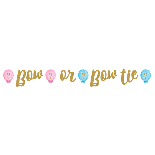 "Pack of 6 Pink and Blue Party Balloon Banner 64"" - IMAGE 1"