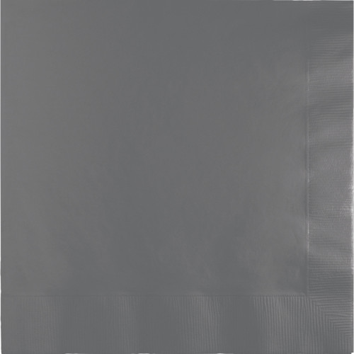 """Club Pack of 250 Glamour Gray Dinner Square Beverage Napkins 16"""" - IMAGE 1"""