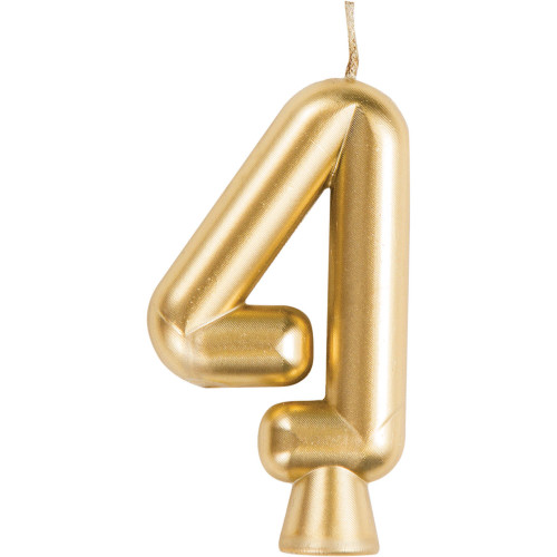 """Club Pack of 12 Gold """"4"""" Birthday Candles 2.75"""" - IMAGE 1"""