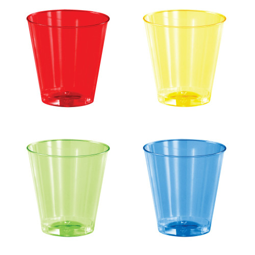 Club Pack of 192 Red and Yellow Shot Glasses 2 oz. - IMAGE 1