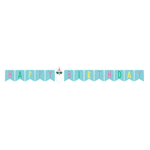 """Pack of 6 Yellow and Pink Happy Birthday Party Banner 70"""" - IMAGE 1"""