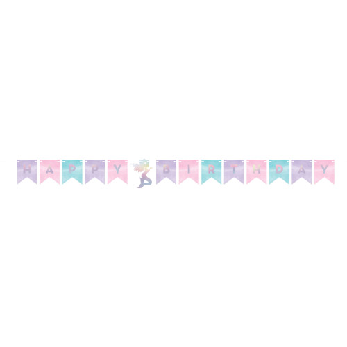 """Club Pack of 12 Blue and Pink Happy Birthday Party Banner 64.25"""" - IMAGE 1"""