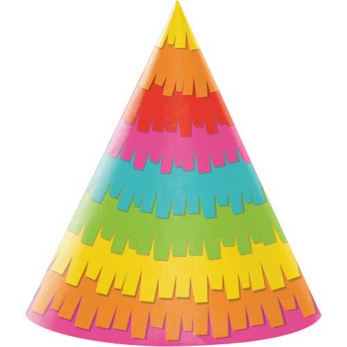"Club Pack of 48 Vibrantly Colored Fiesta Themed Party Hats 7"" - IMAGE 1"