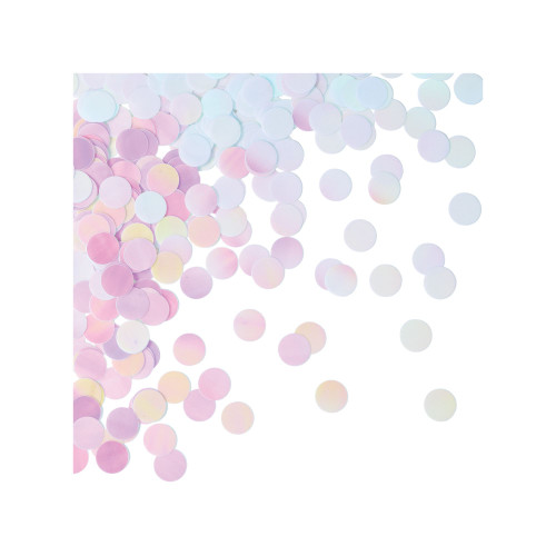 "Club Pack of 12 Pink and Purple Polka Dotted Iridescent Party Confetti 0.50"" - IMAGE 1"