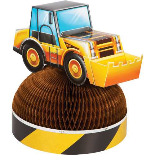"""Pack of 6 Yellow and Brown Dig Big Construction Truck Centerpieces 11.5"""" - IMAGE 1"""