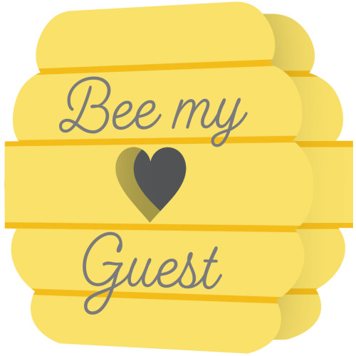 """Club Pack of 48 Yellow and Gray Bubble Bee Square Disposable Invitations 4.5"""" - IMAGE 1"""